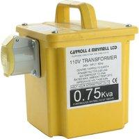 Carroll & Meynell Portable Power Tool Transformer 0.75Kva 240v