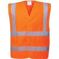Portwest Two Band and Brace Class 2 Hi Vis Waistcoat Orange L / XL