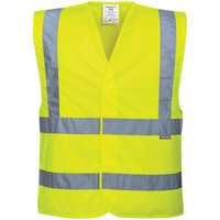 Portwest Two Band and Brace Class 2 Hi Vis Waistcoat Yellow 4XL / 5XL