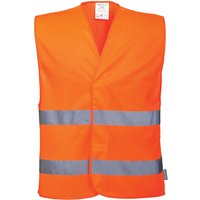 Portwest Two Band Class 2 Hi Vis Waistcoat Orange 4XL / 5XL