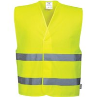 Portwest Two Band Class 2 Hi Vis Waistcoat Yellow L / XL