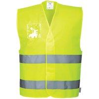 Portwest Dual ID Holder Class 2 Hi Vis Waistcoat Yellow L / XL