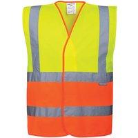 Portwest Two Tone Class 2 Hi Vis Waistcoat Yellow / Orange L / XL