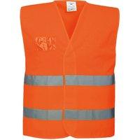 Portwest Class 1 Half Mesh Hi Vis Waistcoat Orange L / XL