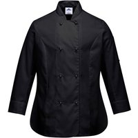 Portwest Ladies Rachel Chefs Jacket Black XL