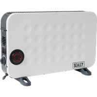 Sealey CD2013TT Slimline Electric Turbo Fan Convector Heater with Timer 240v