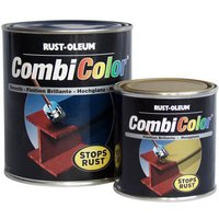Rust Oleum CombiColor Satin Metal Spray Paint Satin Black 400ml
