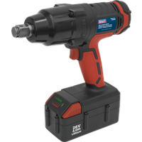 Sealey CP2634 26v Cordless 3 4  Drive Impact Wrench 1 x 4ah Li ion Charger Case