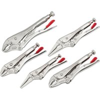 Crescent 5 Piece Locking Pliers With Wire Cutter Set