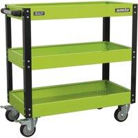 Sealey CX110HV 3 Level Workshop Trolley Hi-Vis Green