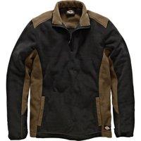 Dickies Mens Micro Fleece Khaki / Black XL