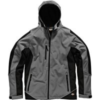 Dickies Mens Softshell Jacket Grey/ Black M