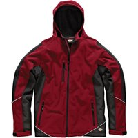 Dickies Mens Softshell Jacket Red / Black M