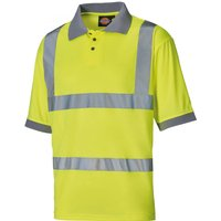 Dickies Mens High Visibility Safety Polo Shirt Yellow 4XL