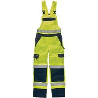 Dickies Mens High Vis Industry Bib & Brace Yellow / Navy 33 31