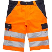 Dickies Mens High Visibility Industry 300 Shorts Orange / Navy 56