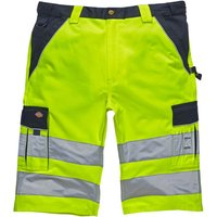 Dickies Mens High Visibility Industry 300 Shorts Yellow / Navy 48