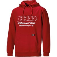 Dickies Mens Arkley Hoodie Red 2XL