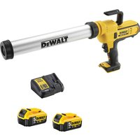 DeWalt DCE580 18v XR Cordless Caulk Gun 2 x 5ah Li-ion Charger No Case