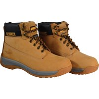 DeWalt Mens Apprentice Nubuck Safety Boots Wheat Size 4