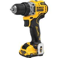 Dewalt DCD701D2 12v XR Cordless Brushless Compact Drill Driver 2 x 2ah Li ion Charger Case