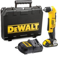 DeWalt DCD740 18v XR Cordless Right Angle Drill 1 x 1.5ah Li-ion Charger Case