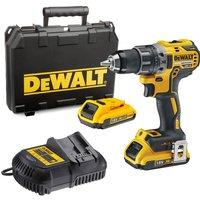 DeWalt DCD791 18v XR Cordless Drill Driver 2 x 2ah Li-ion Charger Case
