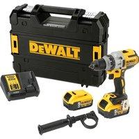 DeWalt DCD991 18v XR Cordless Drill Driver 2 x 5ah Li-ion Charger Case