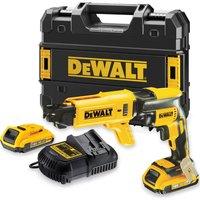 DeWalt DCF620 18v XR Cordless Drywall Screwdriver 2 x 2ah Li ion Charger Case
