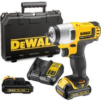 DeWalt DCF813 10.8V XR Cordless 3/8 Impact Wrench 2 x 2ah Li-ion Charger Case