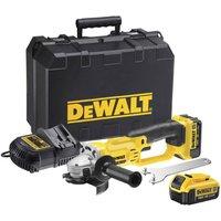 DeWalt DCG412 18v XR Cordless Angle Grinder 125mm 2 x 4ah Li ion Charger Case