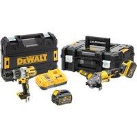 DeWalt DCK2055T2T 54v XR Cordless FLEXVOLT Drill and Angle Grinder Kit 2 x 6ah Li-ion Charger Case
