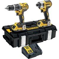 DeWalt DCK266 18v XR Cordless Combi Drill & Impact Driver 2 x 2ah Li-ion Charger Case