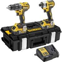 DeWalt DCK266P2 18v XR Cordless Combi Drill and Impact Driver 2 x 5ah Li ion Charger Case