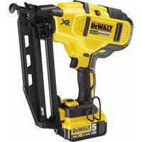 DeWalt DCN660 18v XR Cordless Brushless 2nd Fix Finish Nail Gun 2 x 5ah Li-ion Charger Case