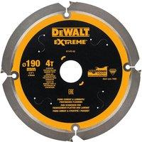 DeWalt PCD Fibre Cement Saw Blade 190mm 4T 30mm