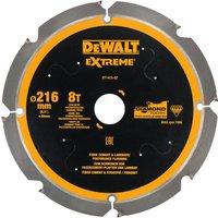DeWalt PCD Fibre Cement Saw Blade 216mm 8T 30mm