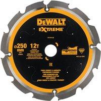 DeWalt PCD Fibre Cement Saw Blade 250mm 12T 30mm