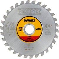 DeWalt Metal Steel Cutting Saw Blade 140mm 30T 20mm