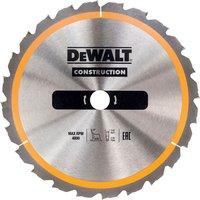 DeWalt Construction Circular Saw Blade 165mm 30T 20mm