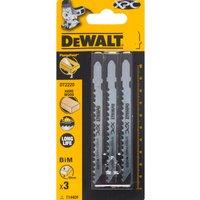 DeWalt XPC T114DF Bi Metal Jigsaw Blades for Wood Pack of 3