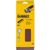 DeWalt 100 x 560mm Multi Purpose Sanding Belts 100mm x 560mm 60g Pack of 3