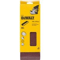 DeWalt 100 x 610mm Multi Purpose Sanding Belts 100mm x 610mm 60g Pack of 3