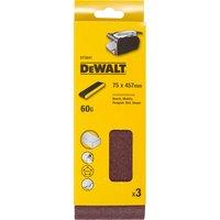 DeWalt 75 X 457mm Multi Purpose Sanding Belts 75mm x 457mm 60g Pack of 3