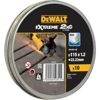 DeWalt Extreme 2x Thin Stainless Steel Cutting Disc 115mm Pack of 10