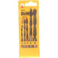 DeWalt 5 Piece Brad Point Wood Drill Bit Set