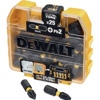 DeWalt Tough Case Torsion Phillips Screwdriver Bits PH2 25mm Pack of 25