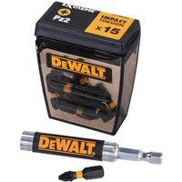 Dewalt Extreme Impact Pozi Screwdriver Bits PZ2 25mm Pack of 15