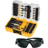 DeWalt 38 Piece FlexTorq Impact Screwdriver Bit Set and Safety Glasses