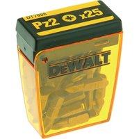 DeWalt Pozi Screwdriver Bits PZ2 25mm Pack of 25